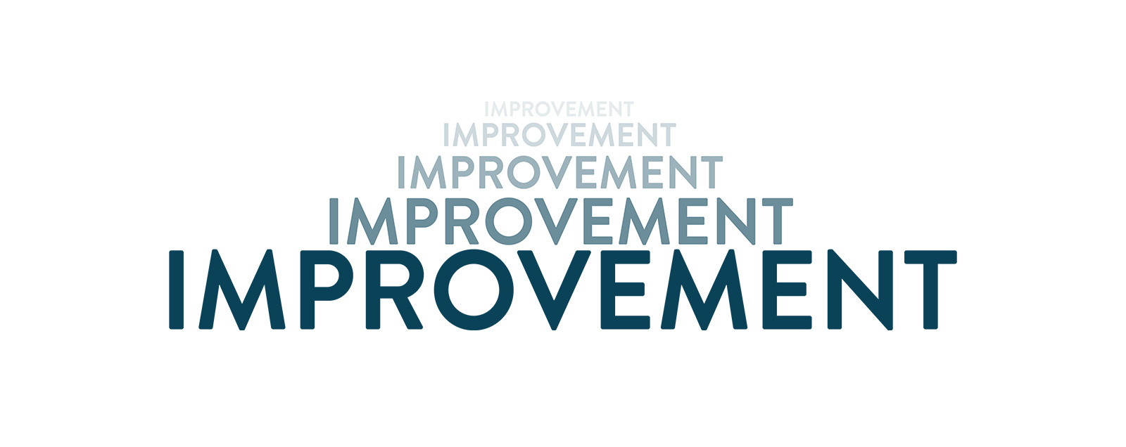 """The word """"Improvement"""" repeated."""